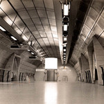 a photograph of a subway station in London, England
