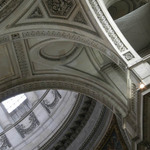 a photograph of the ceiling of the Pantheon in Paris
