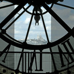 a photograph of a view towards Sacre Coeur from the Musee d'Orsay in Paris