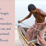 Indian boat builder in Varanasi with quote about involvement