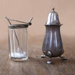 old fashioned salt and pepper pots