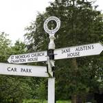 signpost to Jane Austen's house in Chawton