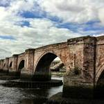 the old stone bridge at Berwick Upon Tweed, England