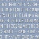 plain light blue background color with HTML code on it