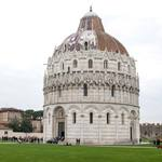 the circular baptistry in Pisa, Italy