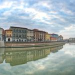 the river arno at Pisa in Italy