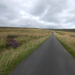 a straight road leading off into the distance in the Yorkshire moors