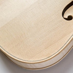 photo of an unvarnished violin