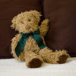photo of a teddy bear reclining