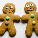 photo of two gingerbread men