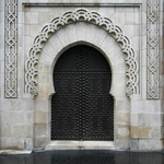photo of the doorway to a mosque in Paris