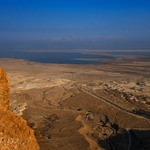 photo of the Dead Sea seen from the heights of Masada